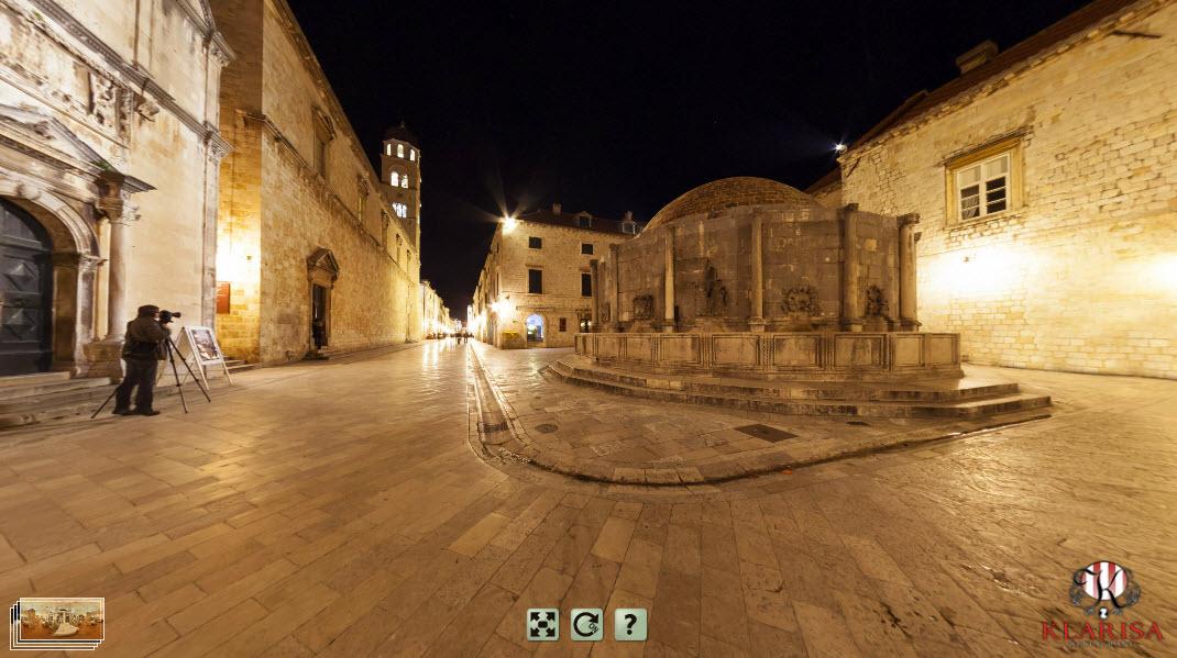 Dubrovnik (restaurant Klarisa by night)